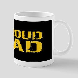 U.S. Army: Proud Dad (Black & Gold) Mug