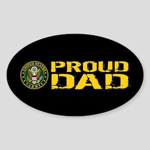 U.S. Army: Proud Dad (Black & Gold) Sticker (Oval)