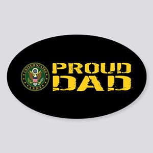 U.S. Army: Proud Dad (Black & Gold) Sticker (Oval)