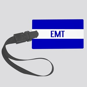 EMT: The Thin White Line Large Luggage Tag