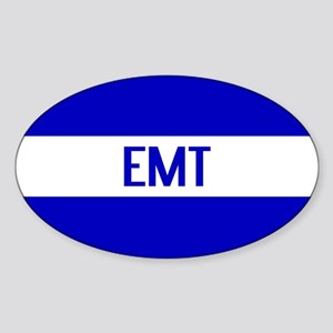 EMT: The Thin White Line Sticker (Oval)