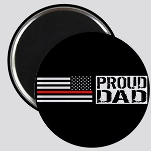 Firefighter: Proud Dad (Black Flag, Red Lin Magnet