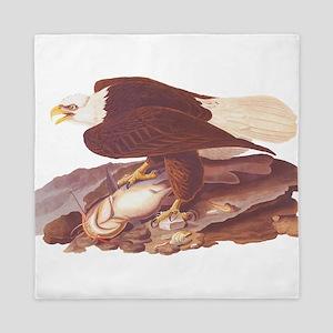 Bald Eagle Vintage Audubon Art Queen Duvet