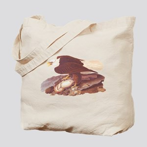 Bald Eagle Vintage Audubon Art Tote Bag