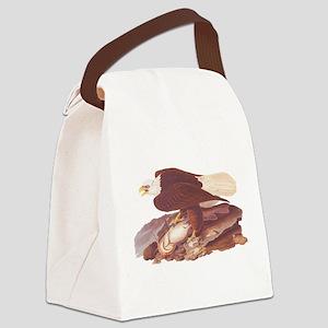 Bald Eagle Vintage Audubon Art Canvas Lunch Bag