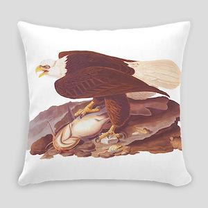 Bald Eagle Vintage Audubon Art Everyday Pillow