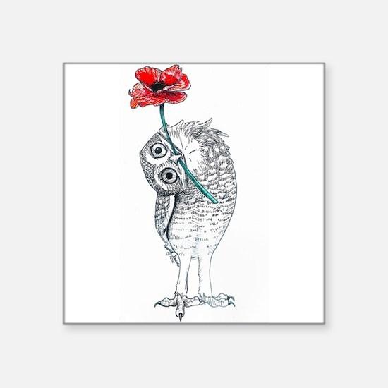 Owl & Poppy Sticker