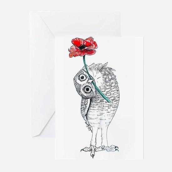 Owl & Poppy Greeting Cards