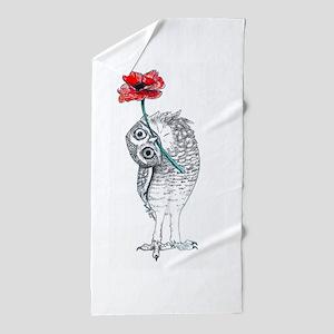 Owl & Poppy Beach Towel