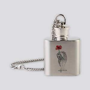 Owl & Poppy Flask Necklace