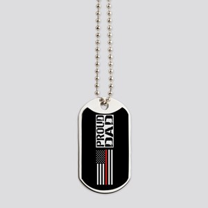 Firefighter: Proud Dad (Black Flag, Red L Dog Tags
