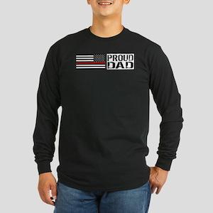 Firefighter: Proud Dad (B Long Sleeve Dark T-Shirt