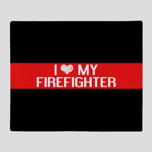 Firefighter: I Love My Firefighter ( Throw Blanket
