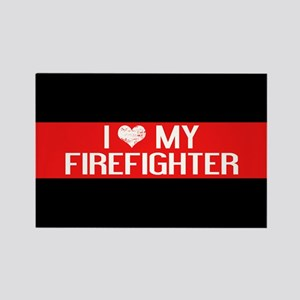 Firefighter: I Love My Firefighte Rectangle Magnet