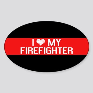 Firefighter: I Love My Firefighter Sticker (Oval)