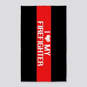 Firefighter: I Love My Firefighter (The T Area Rug