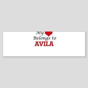 My Heart belongs to Avila Bumper Sticker