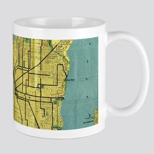 Vintage Map of Seattle Washington (1914) Mugs