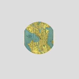 Vintage Map of Seattle Washington (191 Mini Button