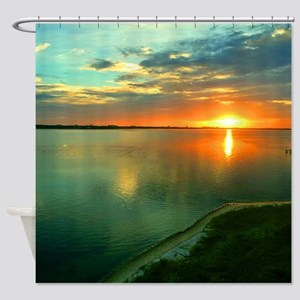 Sky High Sunset Shower Curtain