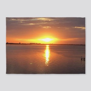 Hot Evening Sunset 5'x7'Area Rug