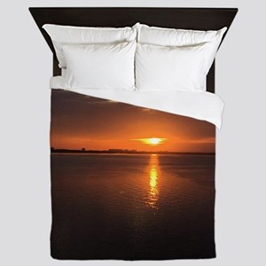 Long Summer Sunset Queen Duvet