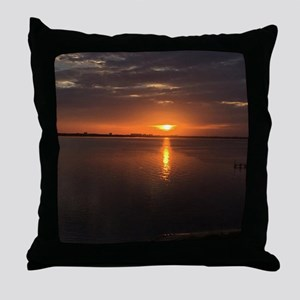Long Summer Sunset Throw Pillow