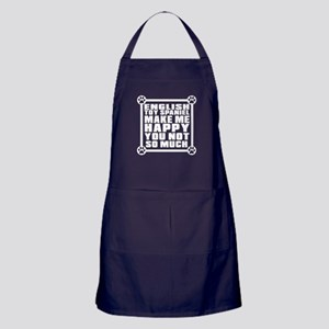English Toy Spaniel Dog Make Me Happy Apron (dark)