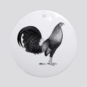 Gamecock Red Hatch Rooster Round Ornament