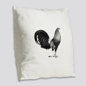 Gamecock Red Hatch Rooster Burlap Throw Pillow
