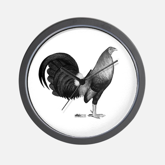 Gamecock Red Hatch Rooster Wall Clock