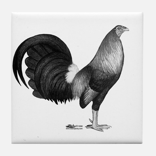 Gamecock Red Hatch Rooster Tile Coaster