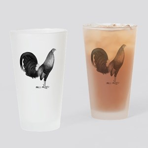 Gamecock Red Hatch Rooster Drinking Glass