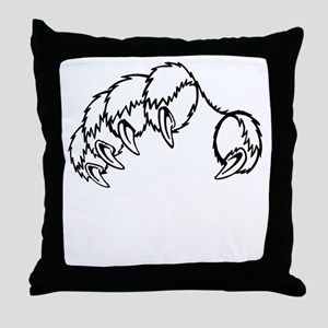 Tiger Claw Throw Pillow