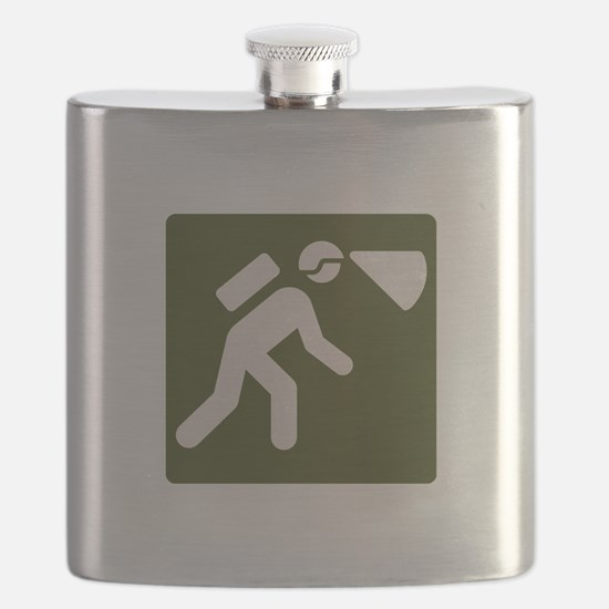 Spelunking sign Flask