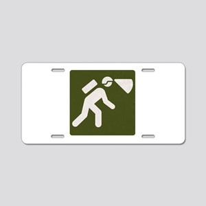 Spelunking sign Aluminum License Plate