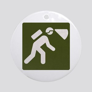 Spelunking sign Round Ornament