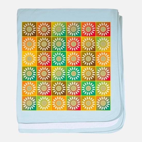 Floral tessellation baby blanket