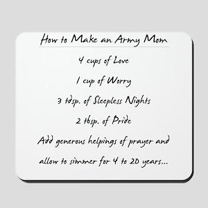 """Army Mom Recipe"" Mousepad"