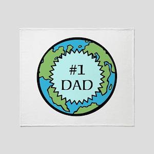 #1 DAD Throw Blanket