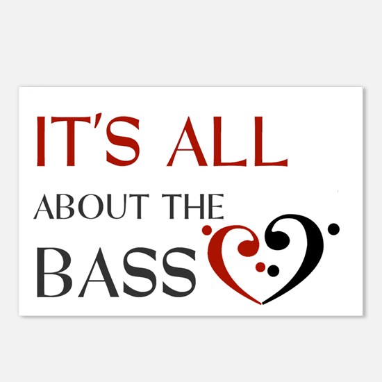 It's All About the Bass Postcards (Package of 8)