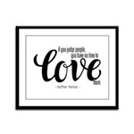 Time to love Framed Panel Print