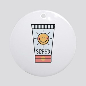 Sunscreen SPF 50 Round Ornament
