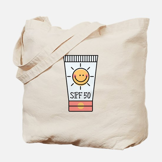 Sunscreen SPF 50 Tote Bag