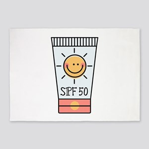 Sunscreen SPF 50 5'x7'Area Rug