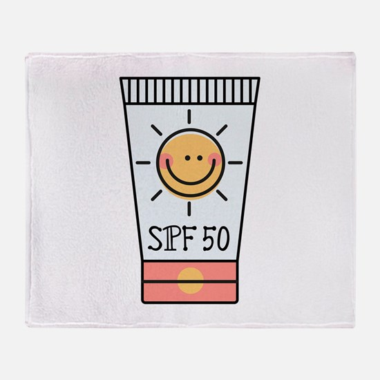 Sunscreen SPF 50 Throw Blanket
