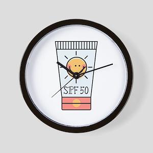 Sunscreen SPF 50 Wall Clock