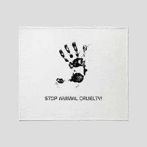 STOP ANIMAL CRUELTY! Throw Blanket