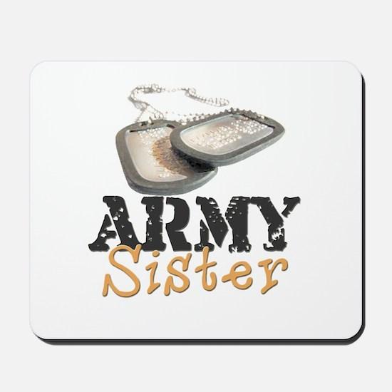 """Army Sister (Dogtags)"" Mousepad"