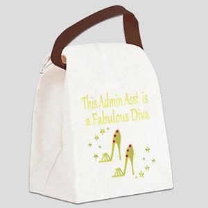 TOP ADMIN ASST Canvas Lunch Bag